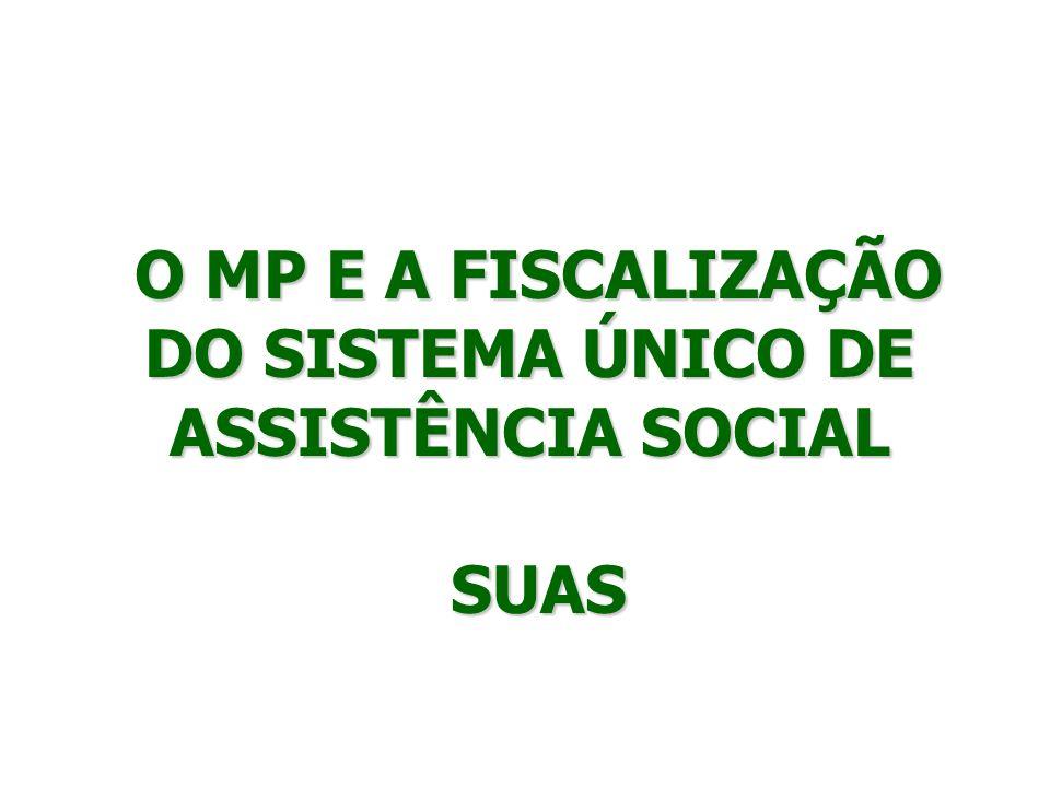 O MP E A FISCALIZAÇÃO DO SISTEMA ÚNICO DE ASSISTÊNCIA SOCIAL