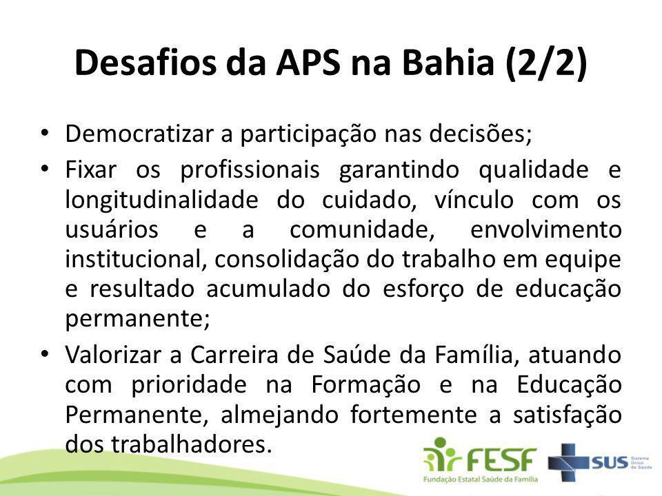 Desafios da APS na Bahia (2/2)