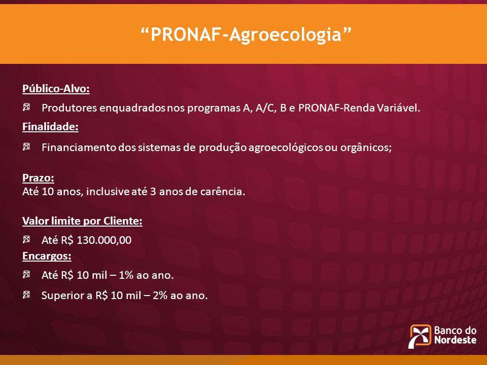 PRONAF-Agroecologia
