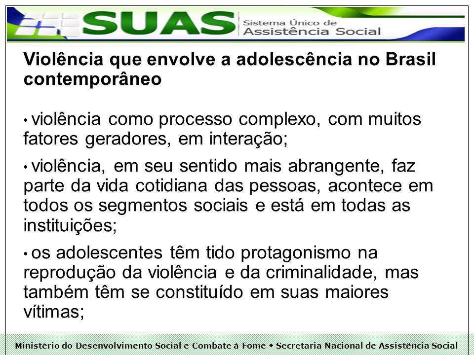 Violência que envolve a adolescência no Brasil contemporâneo