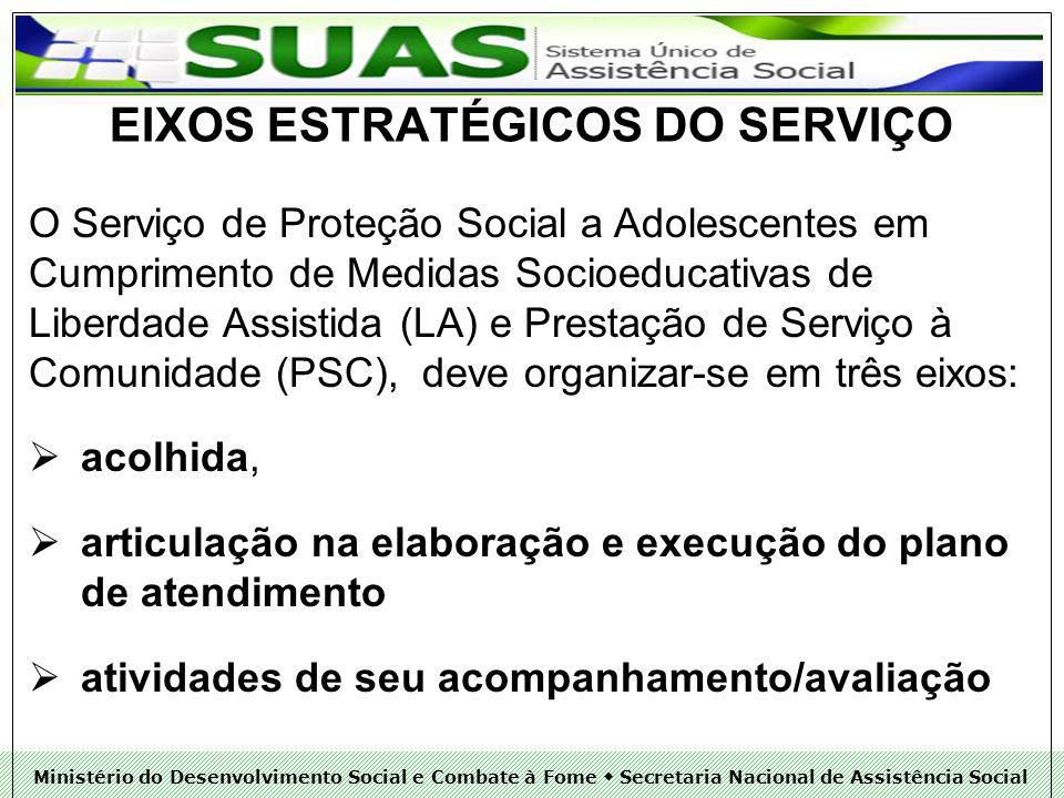 EIXOS ESTRATÉGICOS DO SERVIÇO