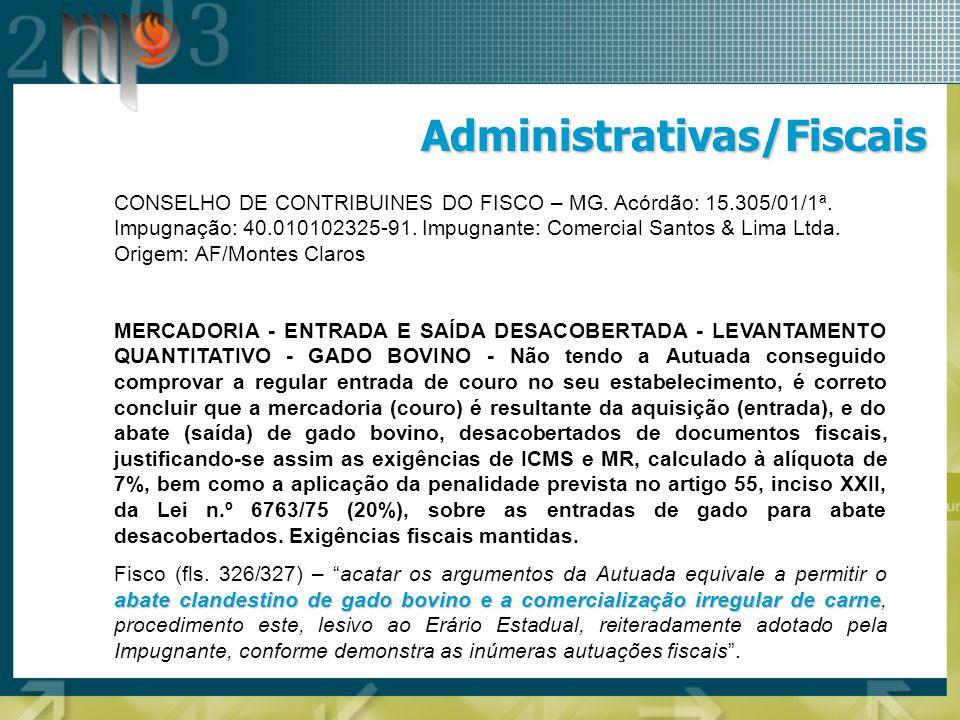 Administrativas/Fiscais
