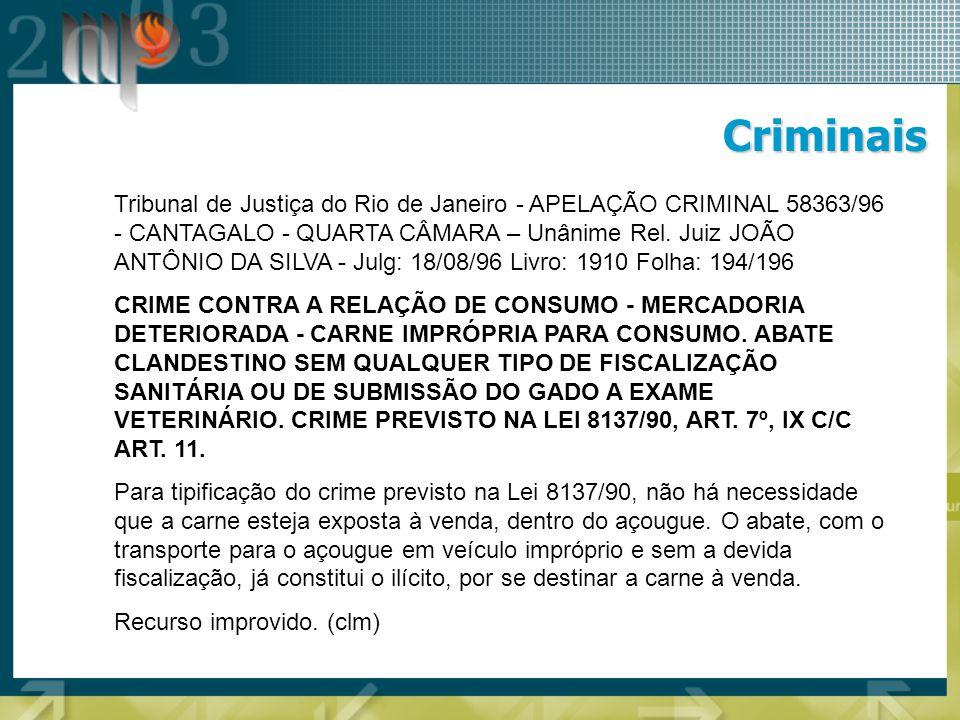 Criminais