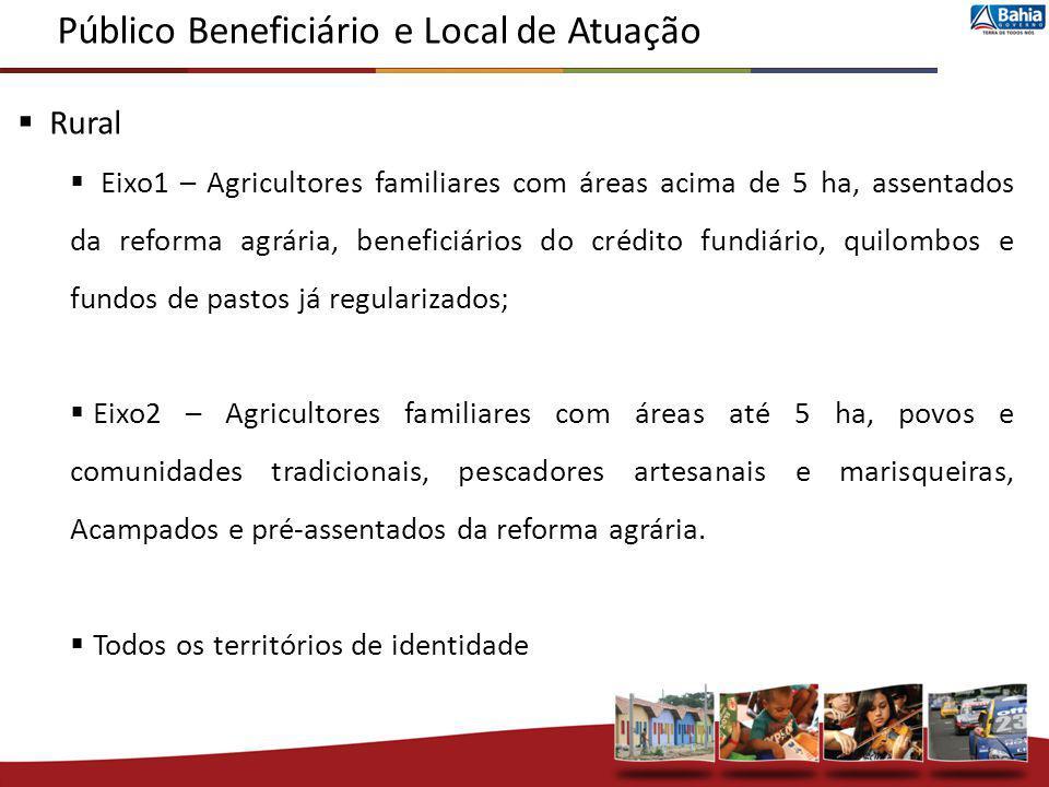 Público Beneficiário e Local de Atuação