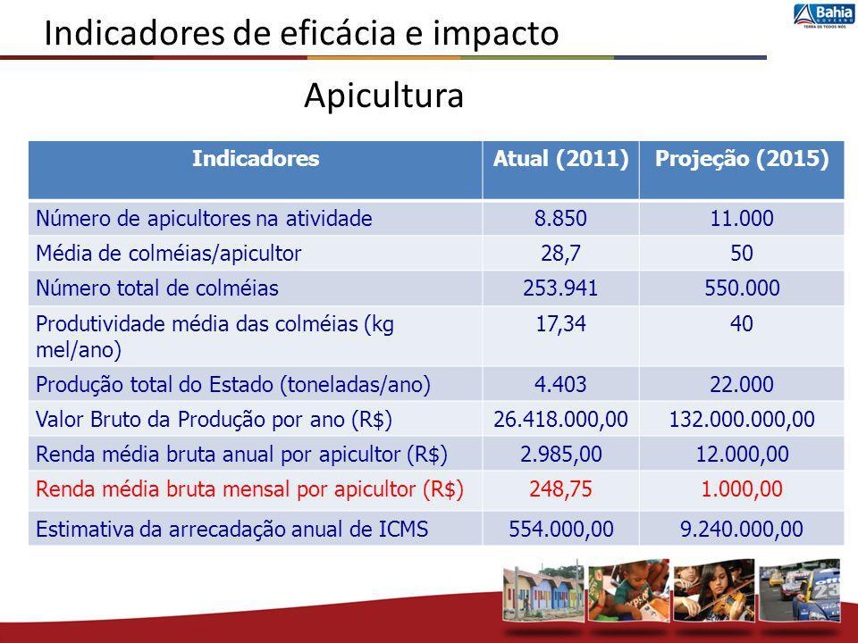 Indicadores de eficácia e impacto