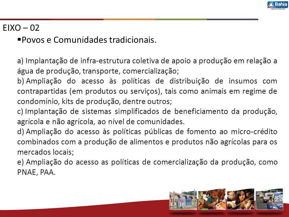 Povos e Comunidades tradicionais.