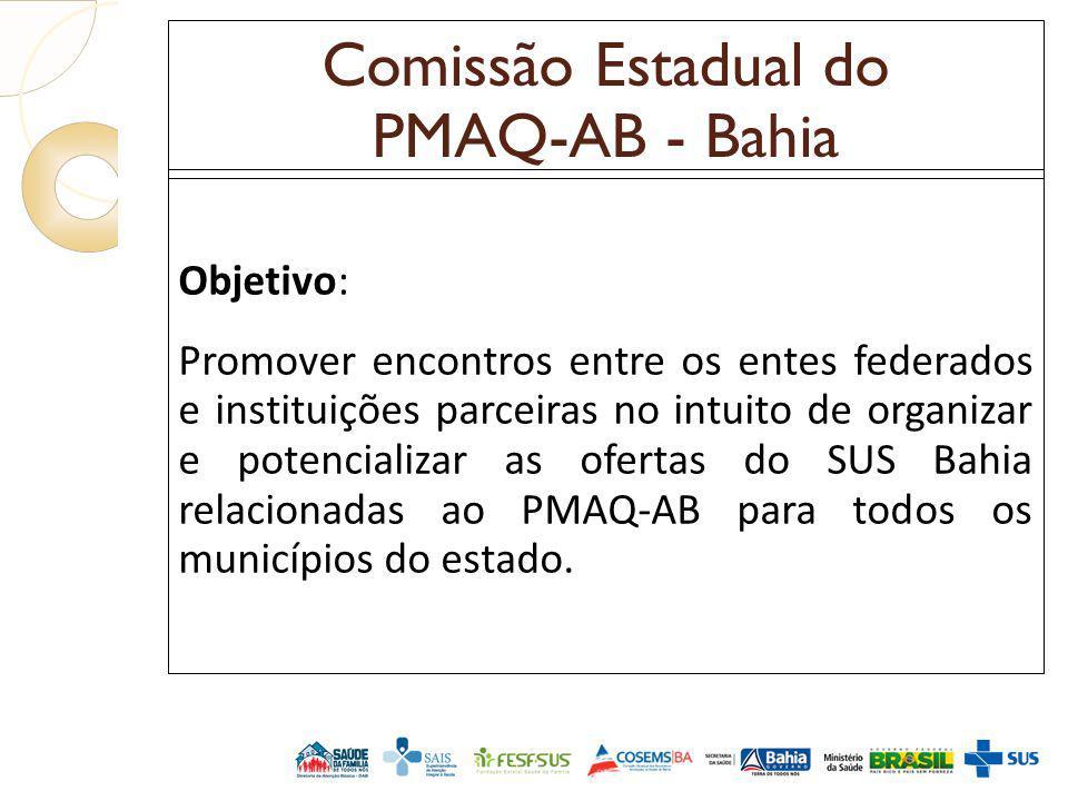 Comissão Estadual do PMAQ-AB - Bahia