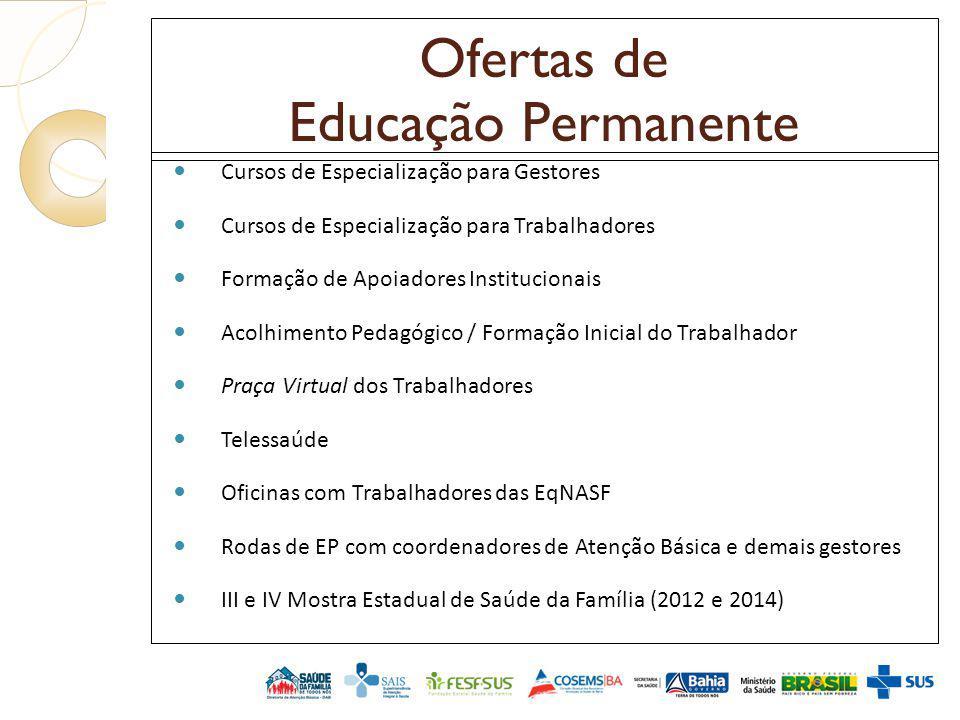 Ofertas de Educação Permanente