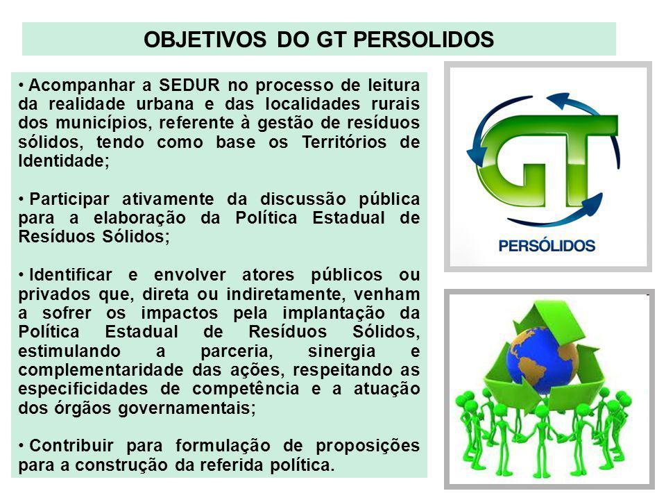 OBJETIVOS DO GT PERSOLIDOS