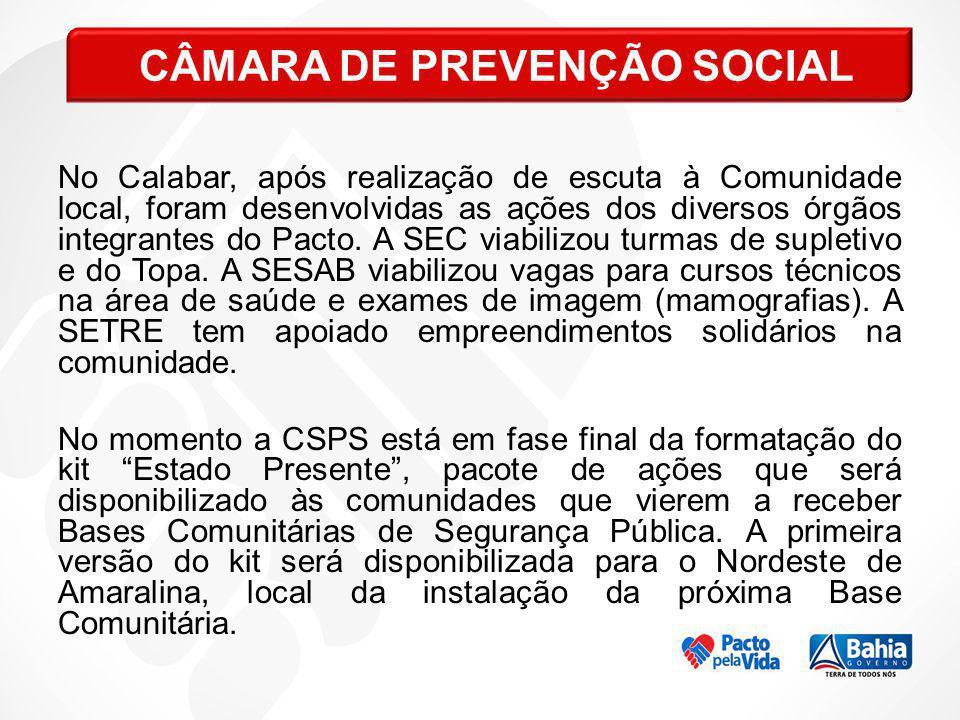 CÂMARA DE PREVENÇÃO SOCIAL