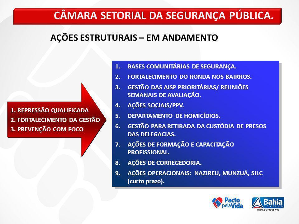 CÂMARA SETORIAL DA SEGURANÇA PÚBLICA.