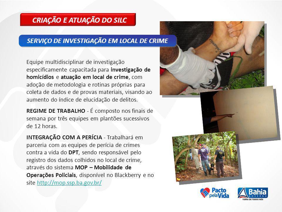 SERVIÇO DE INVESTIGAÇÃO EM LOCAL DE CRIME
