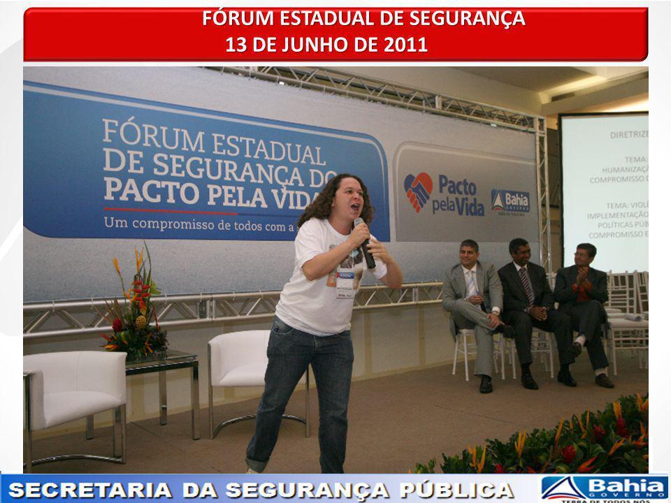 FÓRUM ESTADUAL DE SEGURANÇA