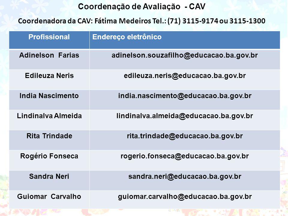 Coordenação de Avaliação - CAV