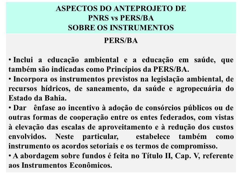 ASPECTOS DO ANTEPROJETO DE