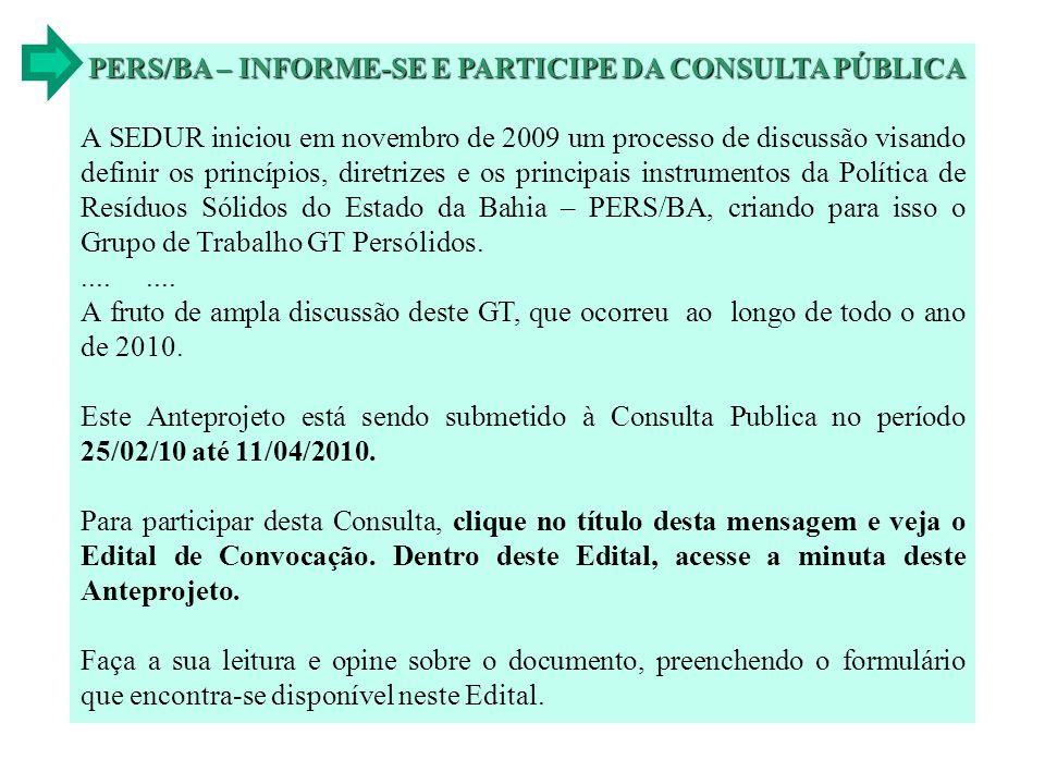 PERS/BA – INFORME-SE E PARTICIPE DA CONSULTA PÚBLICA