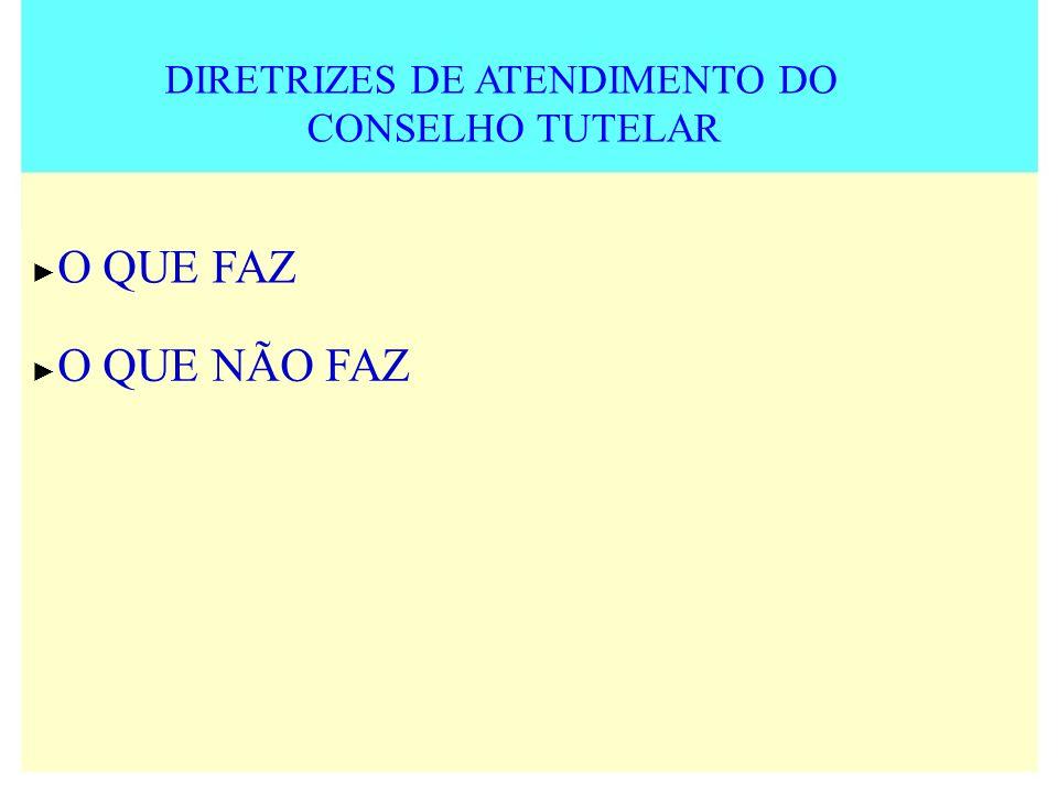 DIRETRIZES DE ATENDIMENTO DO CONSELHO TUTELAR