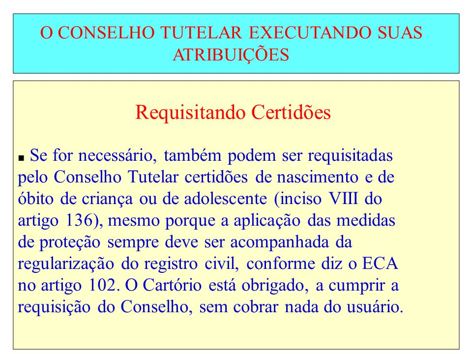 Requisitando Certidões