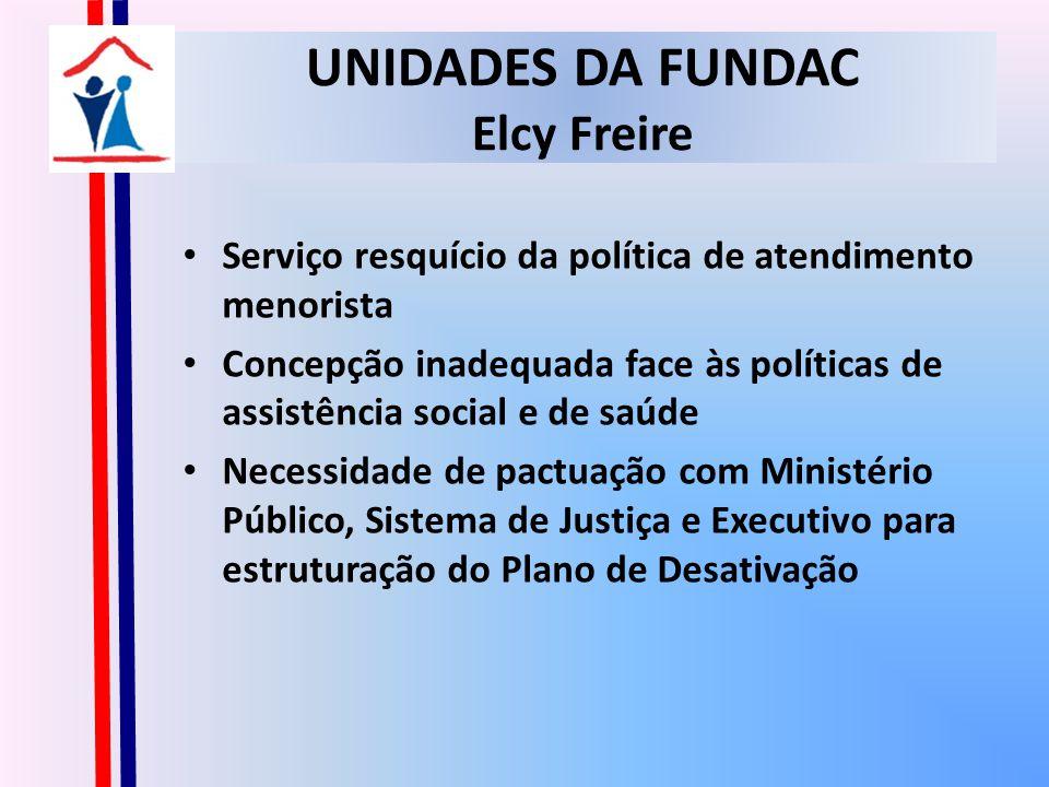 UNIDADES DA FUNDAC Elcy Freire