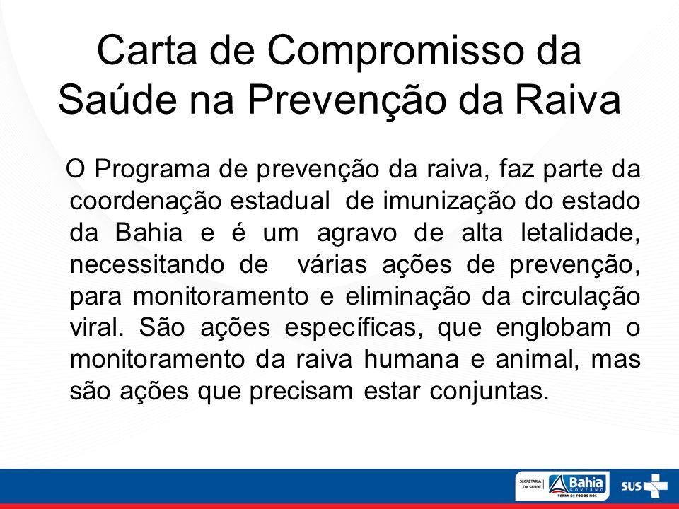 Carta de Compromisso da Saúde na Prevenção da Raiva