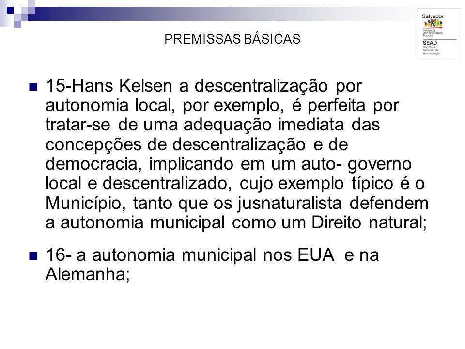 16- a autonomia municipal nos EUA e na Alemanha;