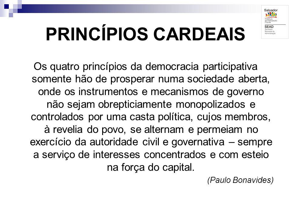 PRINCÍPIOS CARDEAIS