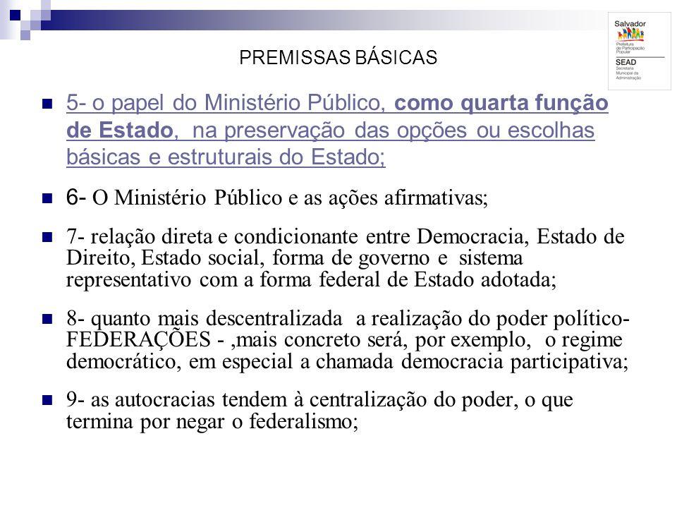 6- O Ministério Público e as ações afirmativas;