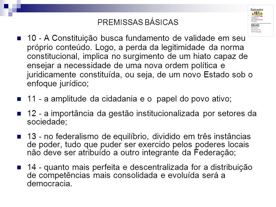11 - a amplitude da cidadania e o papel do povo ativo;