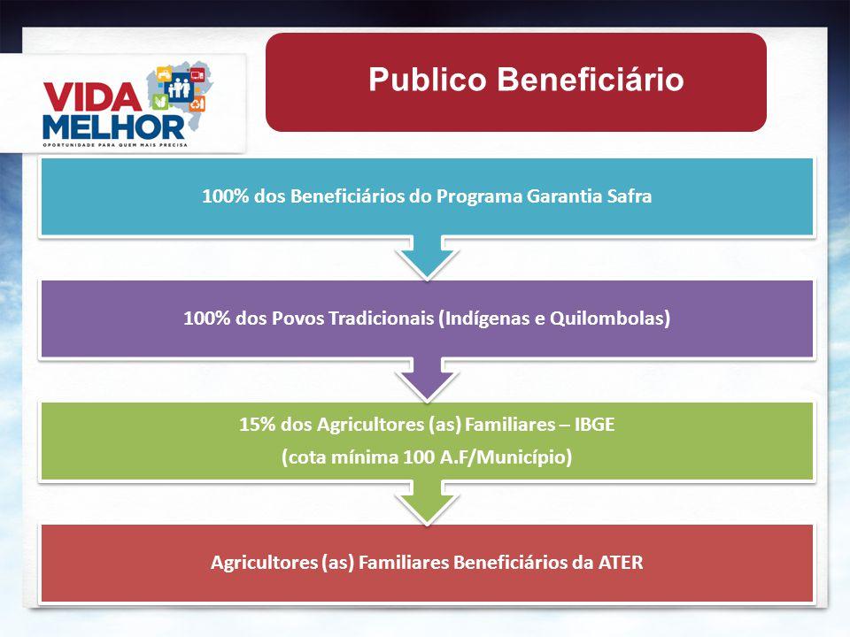 Publico Beneficiário 100% dos Beneficiários do Programa Garantia Safra