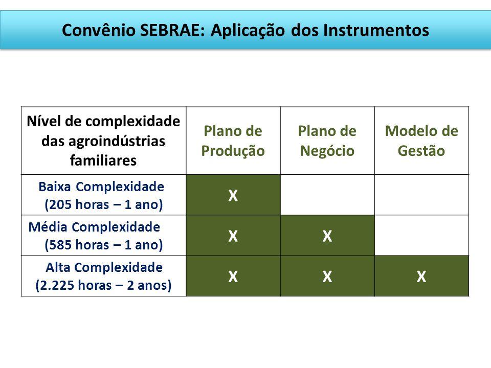 Convênio SEBRAE: Aplicação dos Instrumentos