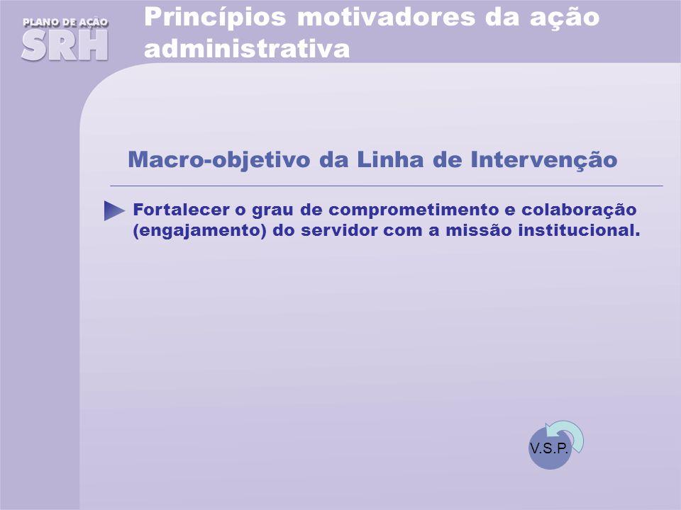 Princípios motivadores da ação administrativa