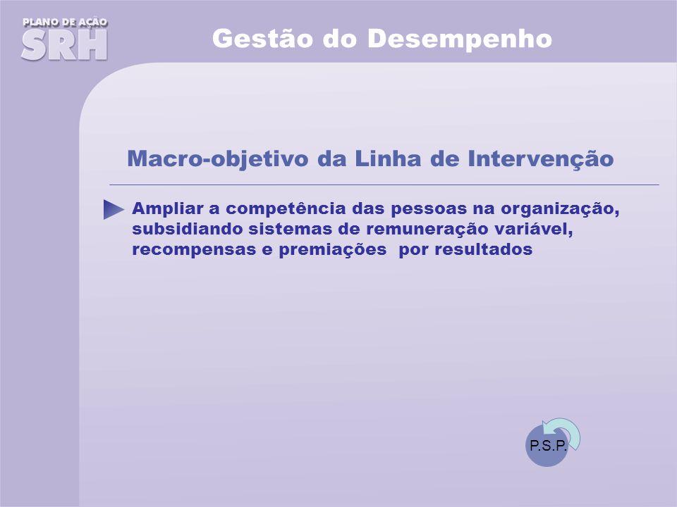 Gestão do Desempenho Macro-objetivo da Linha de Intervenção