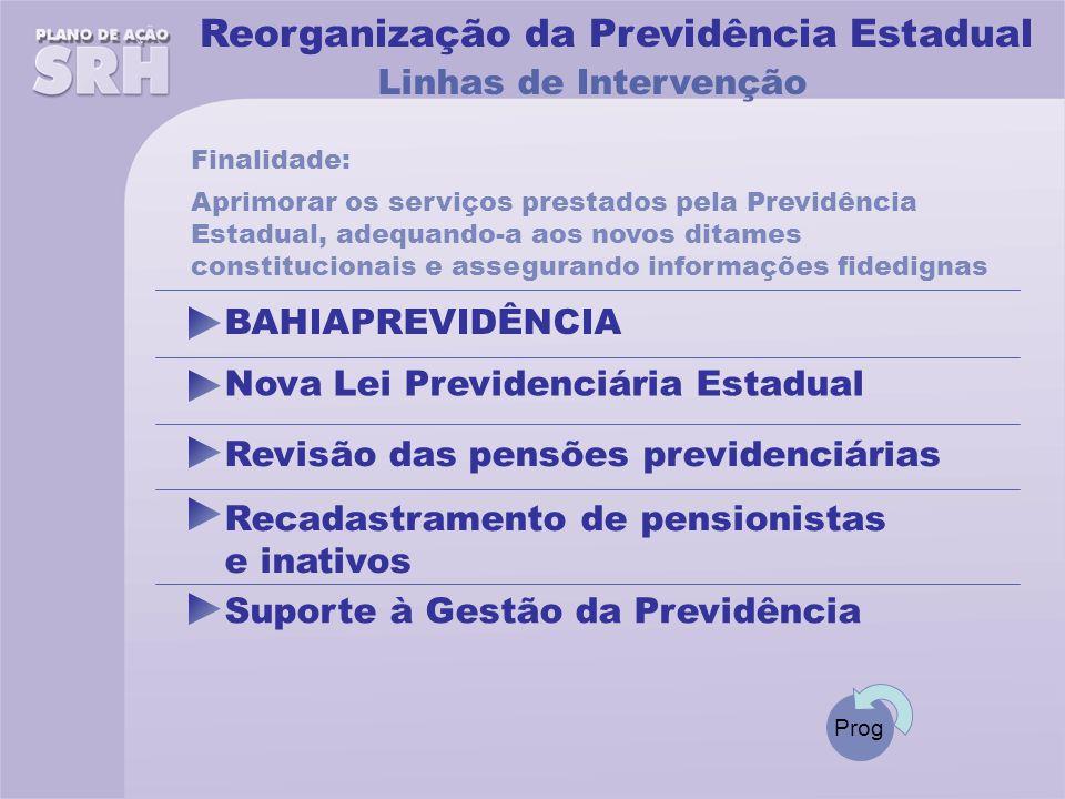 Reorganização da Previdência Estadual