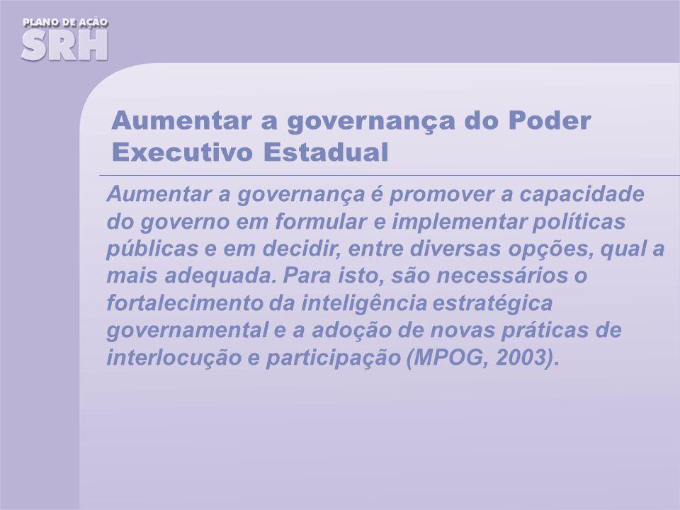 Aumentar a governança do Poder Executivo Estadual