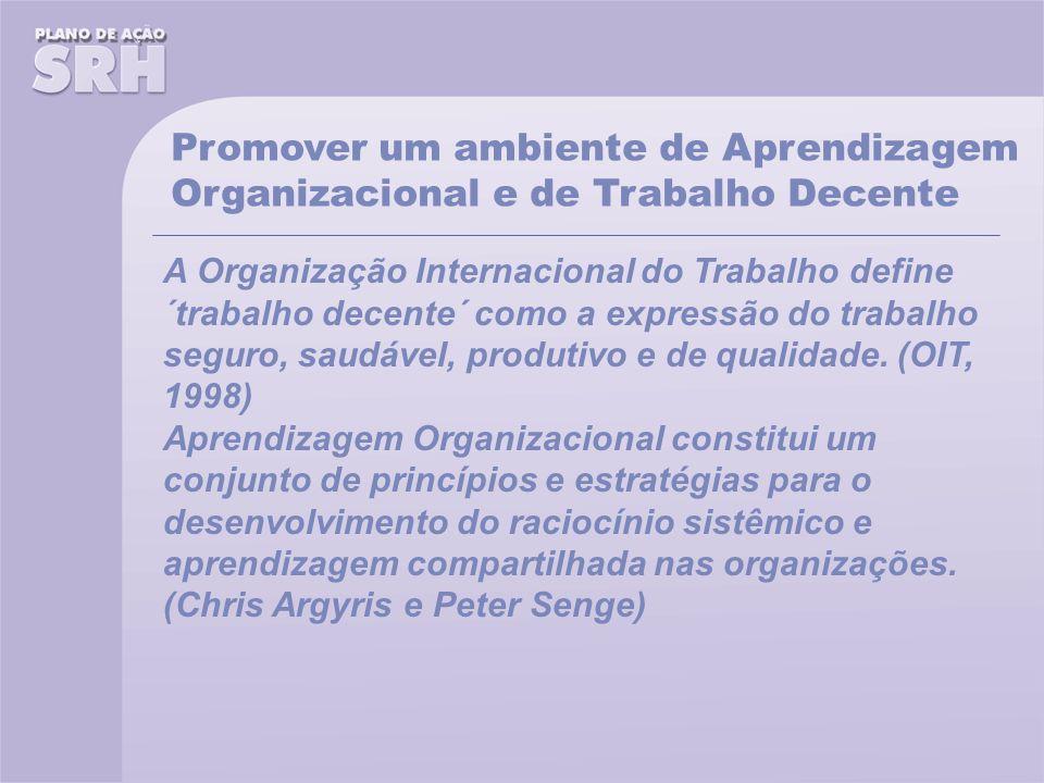 Promover um ambiente de Aprendizagem Organizacional e de Trabalho Decente