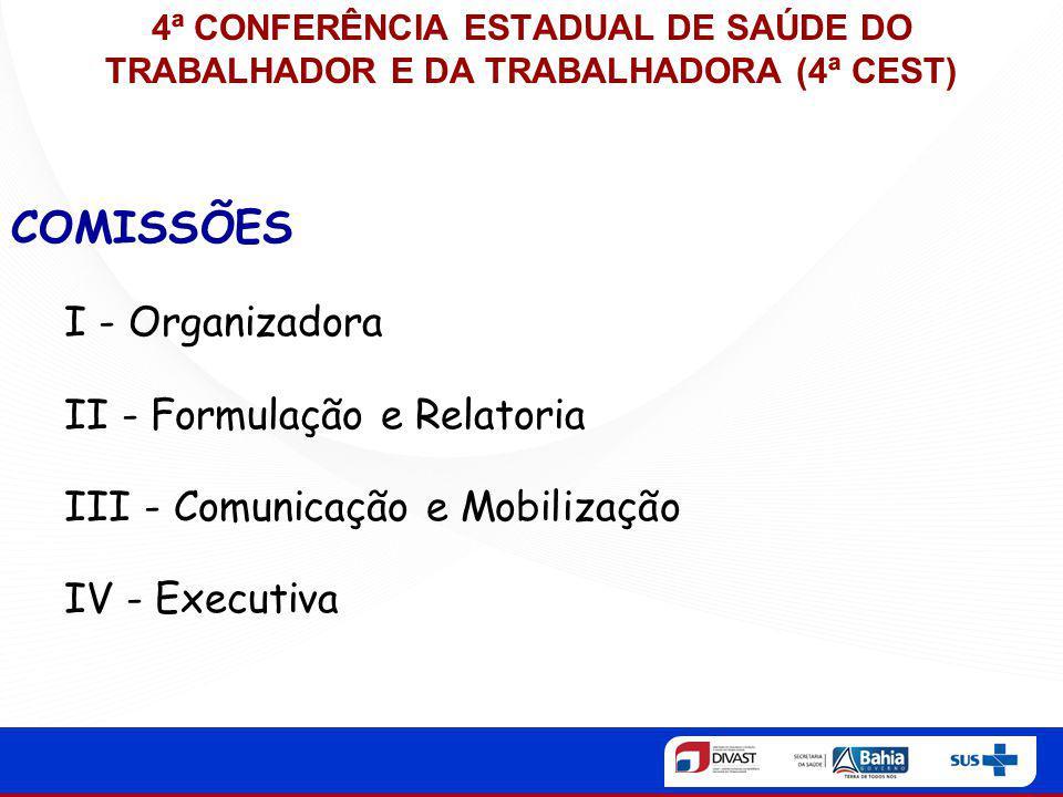 COMISSÕES I - Organizadora II - Formulação e Relatoria