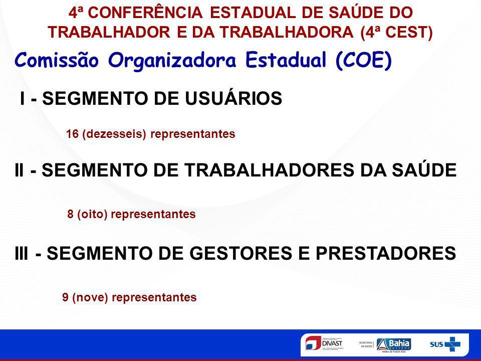 Comissão Organizadora Estadual (COE)