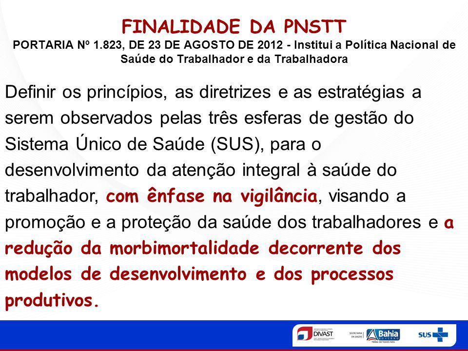 FINALIDADE DA PNSTT PORTARIA Nº 1