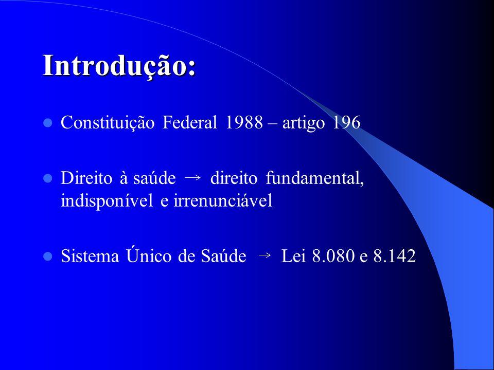Introdução: Constituição Federal 1988 – artigo 196
