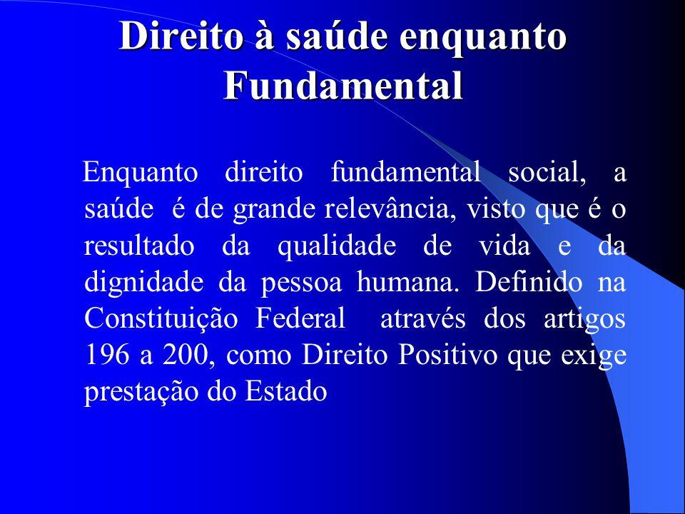 Direito à saúde enquanto Fundamental