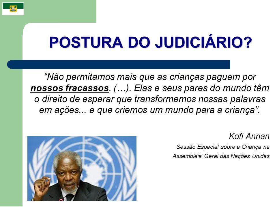 POSTURA DO JUDICIÁRIO