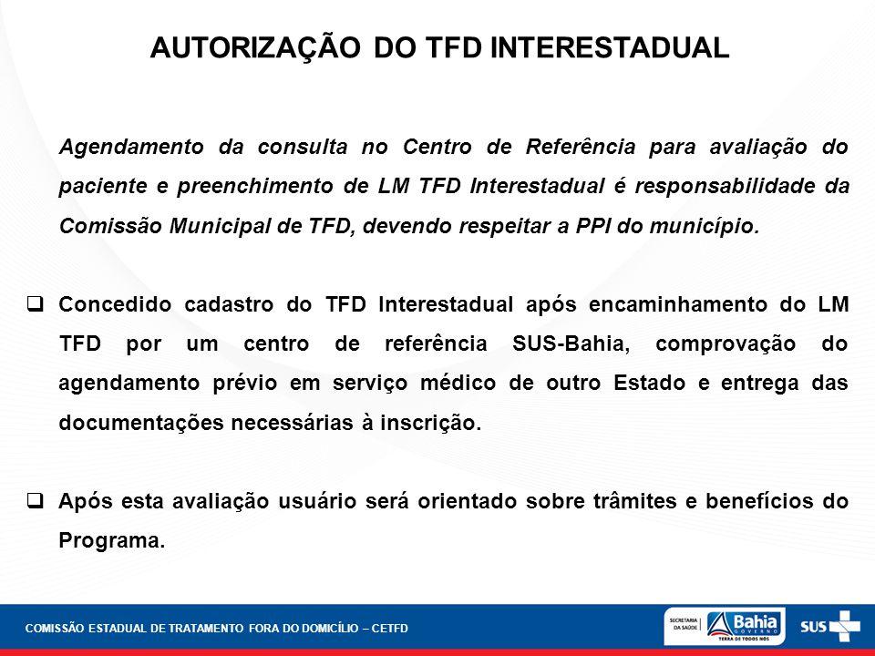 AUTORIZAÇÃO DO TFD INTERESTADUAL