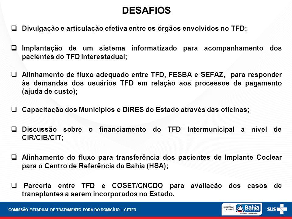 COMISSÃO ESTADUAL DE TRATAMENTO FORA DO DOMICÍLIO – CETFD
