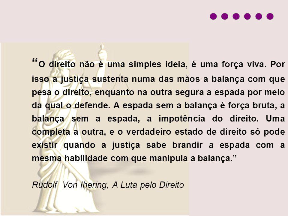 O direito não é uma simples ideia, é uma força viva