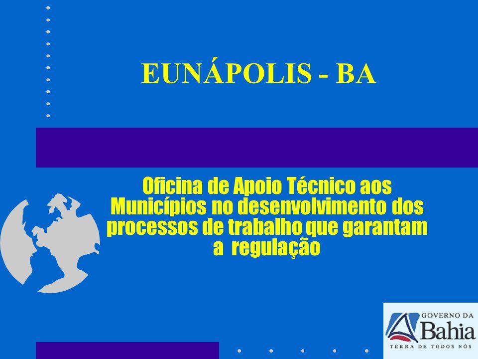 EUNÁPOLIS - BA Oficina de Apoio Técnico aos Municípios no desenvolvimento dos processos de trabalho que garantam a regulação.