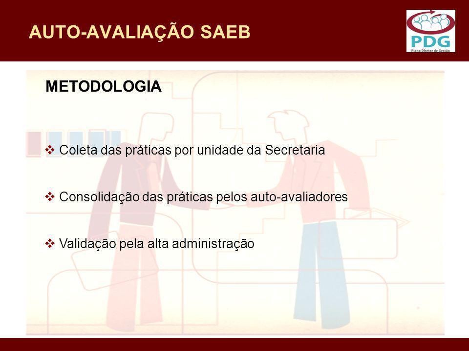 AUTO-AVALIAÇÃO SAEB METODOLOGIA