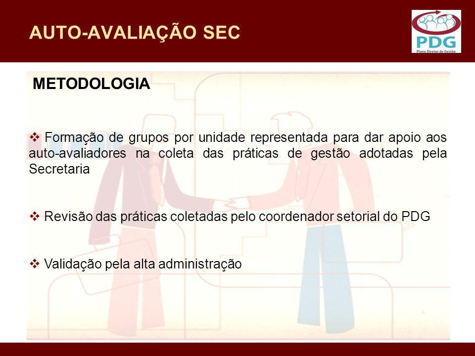 AUTO-AVALIAÇÃO SEC METODOLOGIA