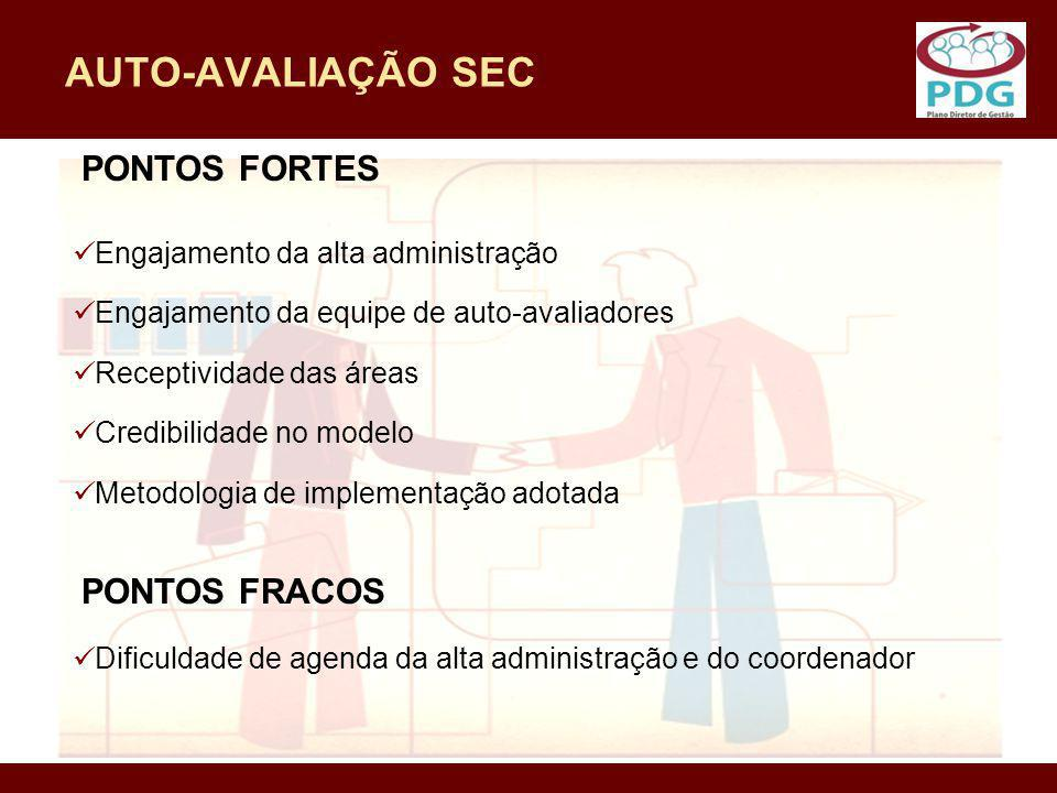 AUTO-AVALIAÇÃO SEC PONTOS FORTES PONTOS FRACOS