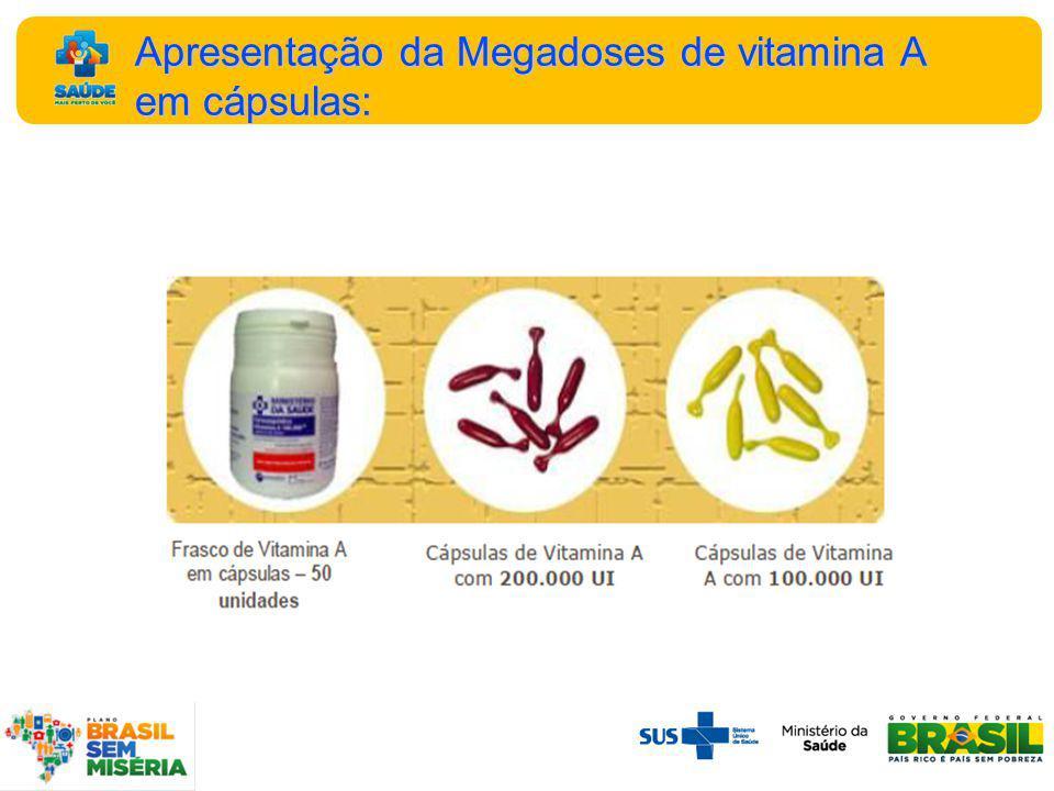 Apresentação da Megadoses de vitamina A