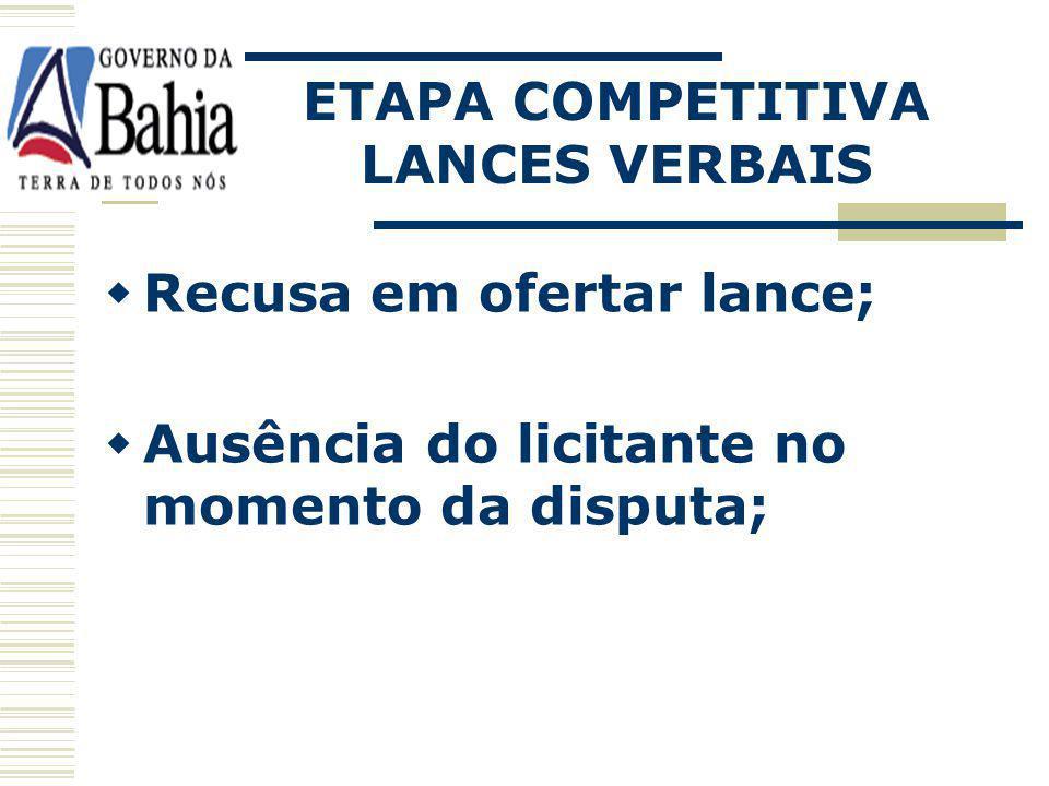 ETAPA COMPETITIVA LANCES VERBAIS.